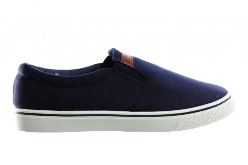 Canvas Heren Blauw Mocassin