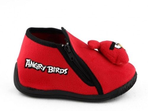 Kinderpantoffel Angry Birds Rood