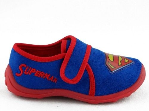 Kinderpantoffel Superman Blauw