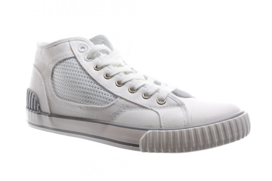 939531be123 Hoge Witte Canvas Sneakers | SHOEZ.be