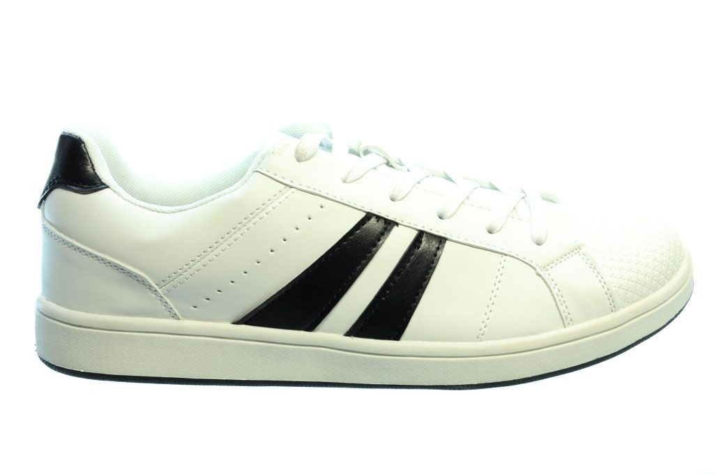 Baskets Rayures Noires Hommes Blancs ys6rX