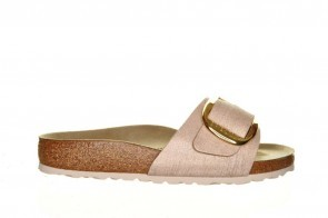Birkenstock Madrid Washed Metallic Rose