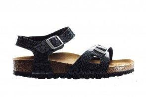 Birkenstock Rio Kids Magic Snake Black