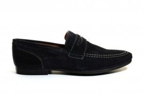 Loafers Blauw Leder Freemood