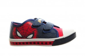 Spiderman Canvas Lichtjes Schoen Jongens Velcro