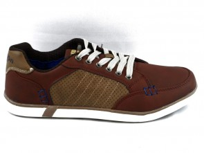 Veterschoenen Cognac Heren