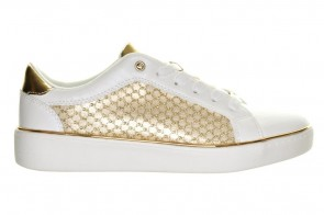 Witte Sneakers Goud Accent