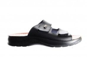 Zwarte Slipper 2 Velcro Heren