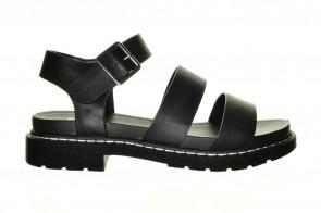 Zwarte Trendy Sandaal Dikke Zool Bullboxer