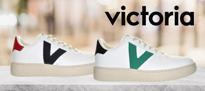 Sneakers met een V van Victoria